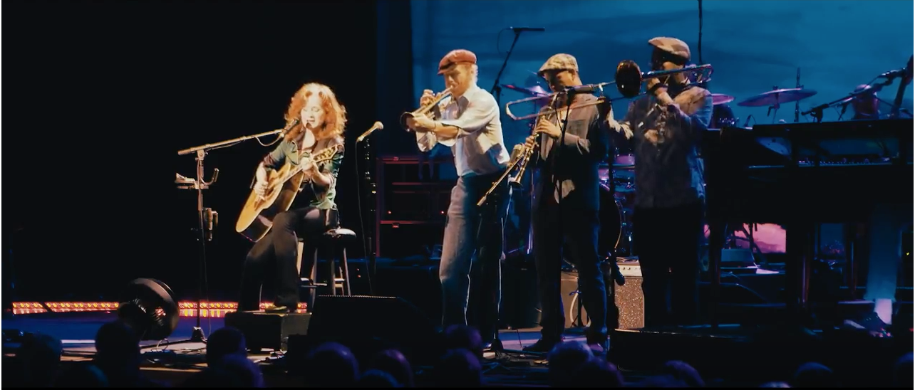 "Bonnie Raitt with the California Honeydrops ""Honey Horns"" in Brisbane, Australia"